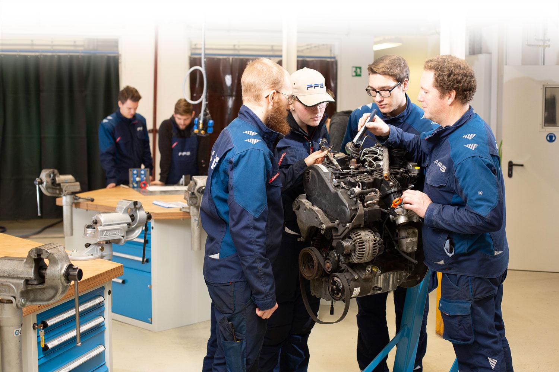 Ausbildung Lehrwerkstatt Flensburg Motor KFZ Meister